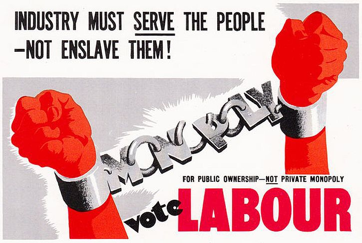 1945 industry must serve labour poster
